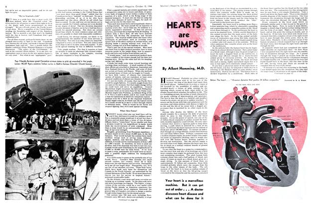 Article Preview: HEARTS are PUMPS, October 1944 | Maclean's