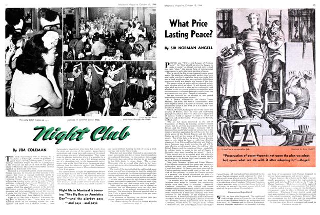 Article Preview: What Price Lasting Peace?, October 1944 | Maclean's