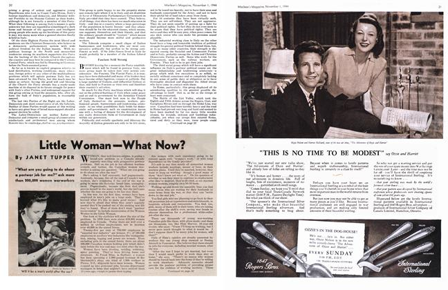 Article Preview: Little Woman—What Now?, November 1944 | Maclean's