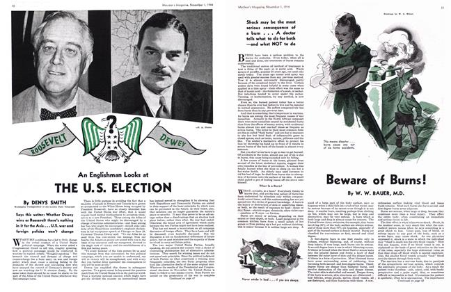 Article Preview: An Englishman Looks at THE U.S. ELECTION, November 1944 | Maclean's