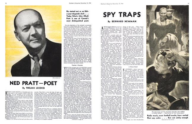 Article Preview: NED PRATT-POET, November 1944 | Maclean's