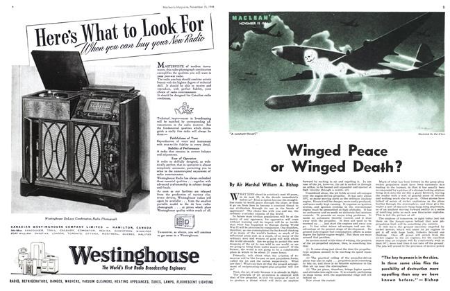 Article Preview: Winged Peace or Winged Death?, November 1944 | Maclean's