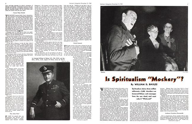 "Article Preview: Is Spiritualism ""Mockery""?, November 1944 | Maclean's"