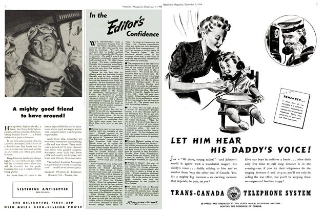 Article Preview: In the Editor's Confidence, December 1944 | Maclean's