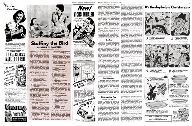 Article Preview: Stuffing the Bird, December 1944   Maclean's