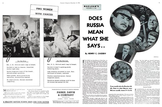 Article Preview: DOES RUSSIA MEAN WHAT SHE SAYS.., December 1944 | Maclean's