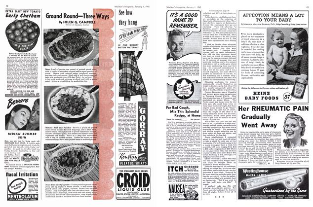Article Preview: Ground Round—Three Ways, January 1945   Maclean's