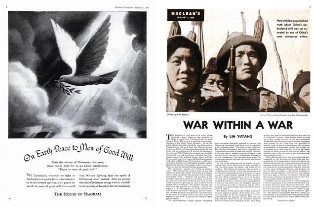 Article Preview: WAR WITHIN A WAR, January 1945 | Maclean's