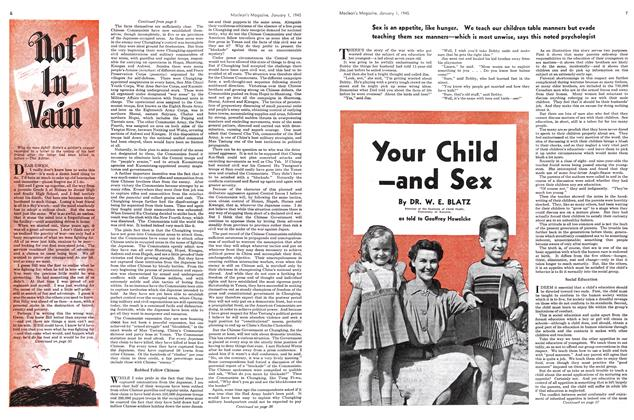 Article Preview: Your Child and Sex, January 1945 | Maclean's