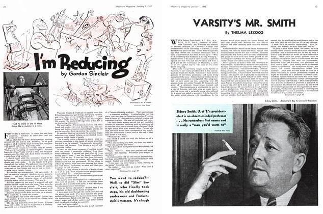 Article Preview: VARSITY'S MR. SMITH, January 1945 | Maclean's