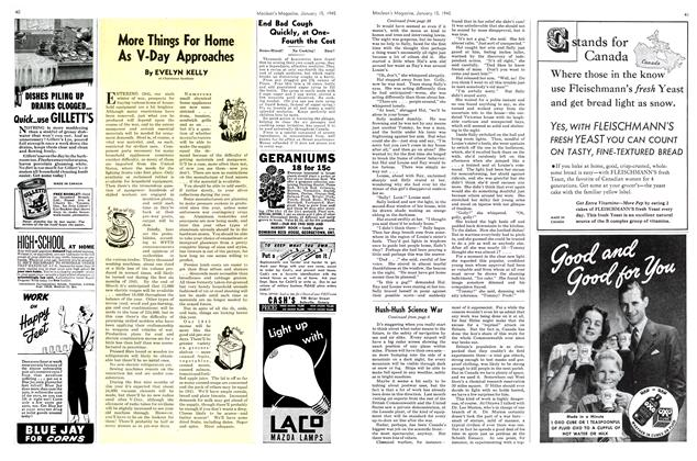 Article Preview: More Things For Home As V-Day Approaches, January 1945 | Maclean's
