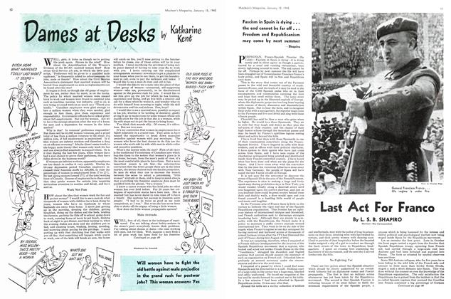 Article Preview: Dames at Desks, January 1945 | Maclean's
