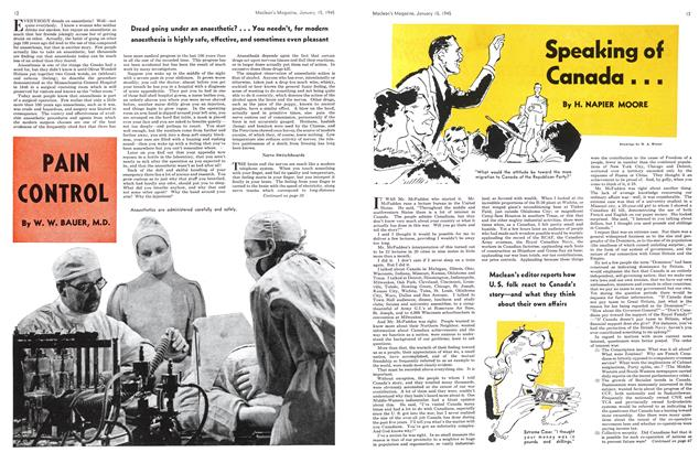 Article Preview: PAIN CONTROL, January 1945 | Maclean's