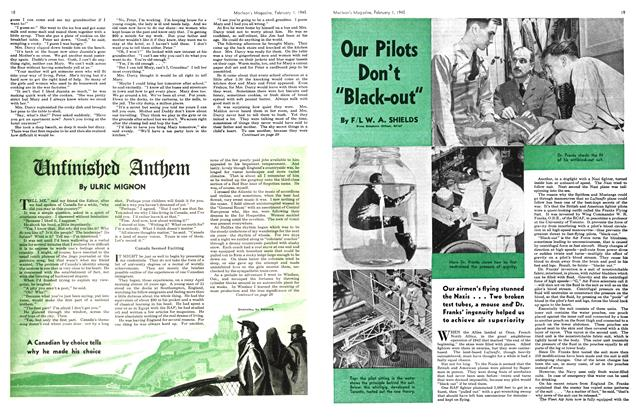 "Article Preview: Our Pilots Don't ""Black-out"", February 1945 