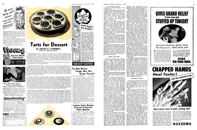Article Preview: Tarts for Dessert, February 1945 | Maclean's