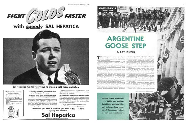 Article Preview: ARGENTINE GOOSE STEP, February 1945 | Maclean's