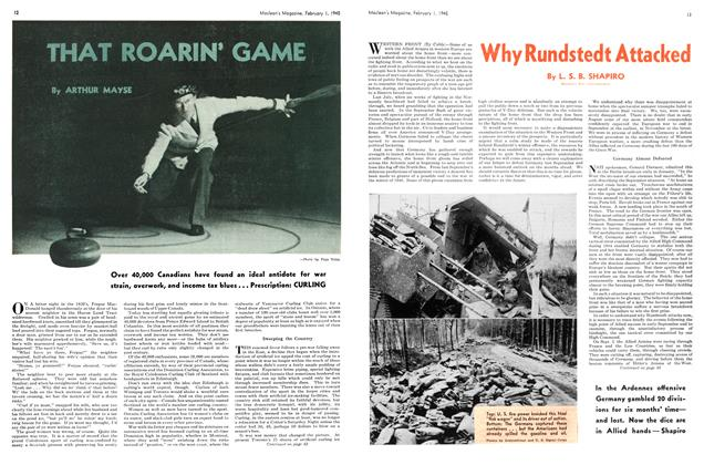 Article Preview: THAT ROARIN' GAME, February 1945 | Maclean's