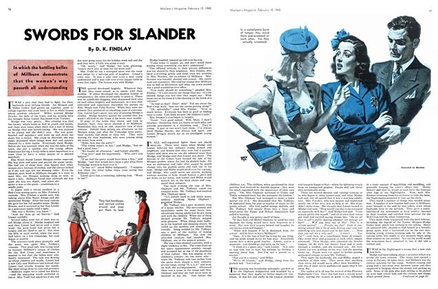 Article Preview: SWORDS FOR SLANDER, February 1945 | Maclean's