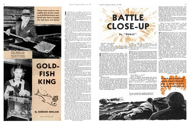 Article Preview: GOLD-FISH KING, February 1945 | Maclean's