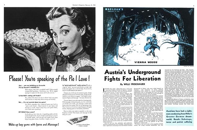 Article Preview: Austria's Underground Fights For Liberation, February 1945 | Maclean's
