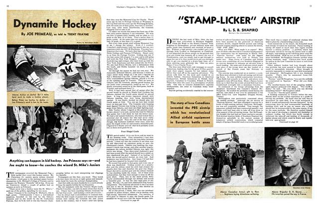 Article Preview: Dynamite Hockey, February 1945 | Maclean's