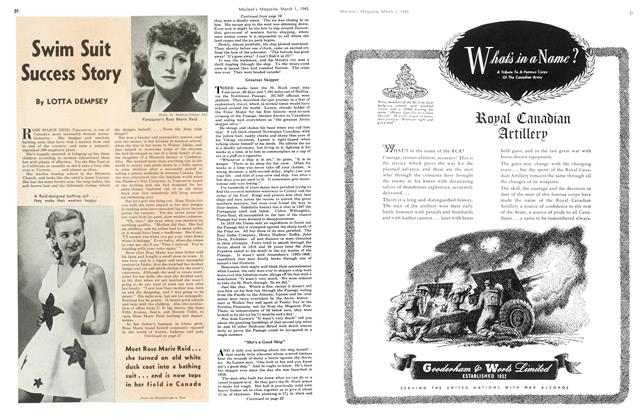 Article Preview: Swim Suit Success Story, March 1945 | Maclean's