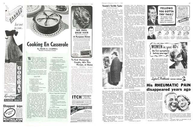 Article Preview: Cooking En Casserole, March 1945 | Maclean's