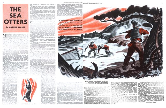 Article Preview: THE SEA OTTERS, March 1945 | Maclean's