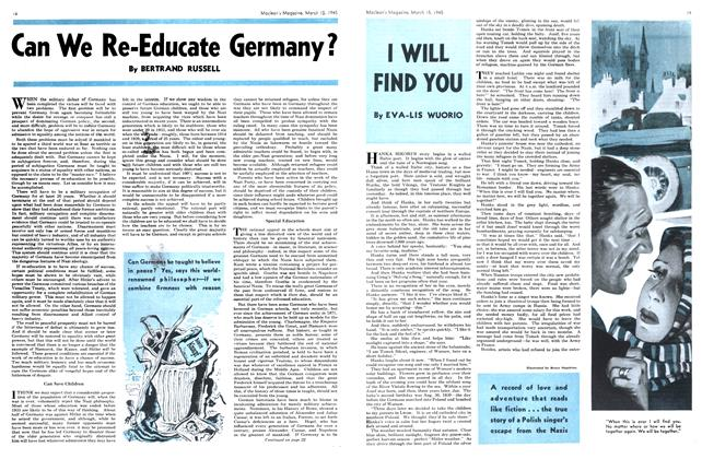 Article Preview: I WILL FIND YOU, March 1945 | Maclean's