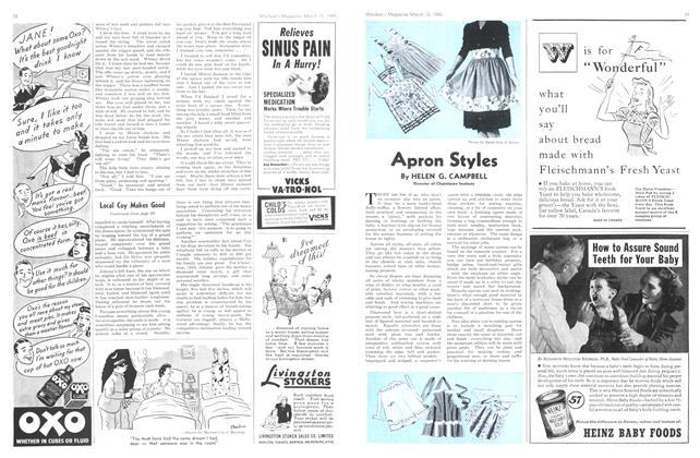 Article Preview: Apron Styles, March 1945 | Maclean's