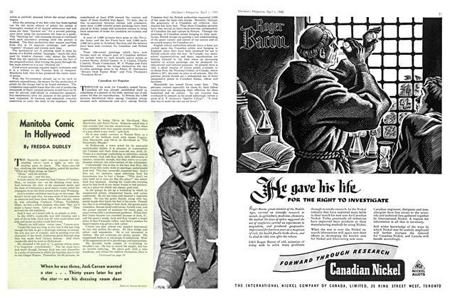 Article Preview: Manitoba Comic In Hollywood, April 1945   Maclean's