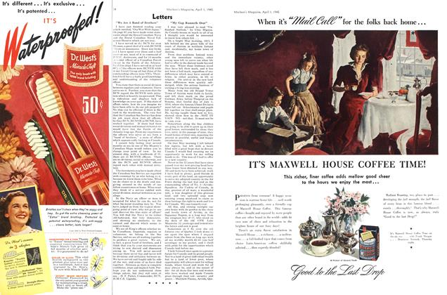 Article Preview: Letters, April 1945 | Maclean's