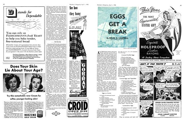 Article Preview: EGGS GET A BREAK, April 1945 | Maclean's