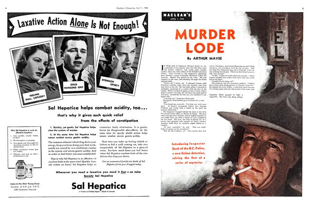 Article Preview: MURDER LODE, April 1945 | Maclean's