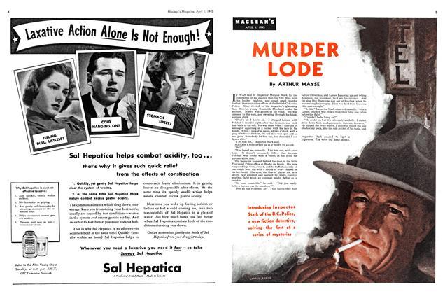 Article Preview: MURDER LODE, April 1945 | Maclean's