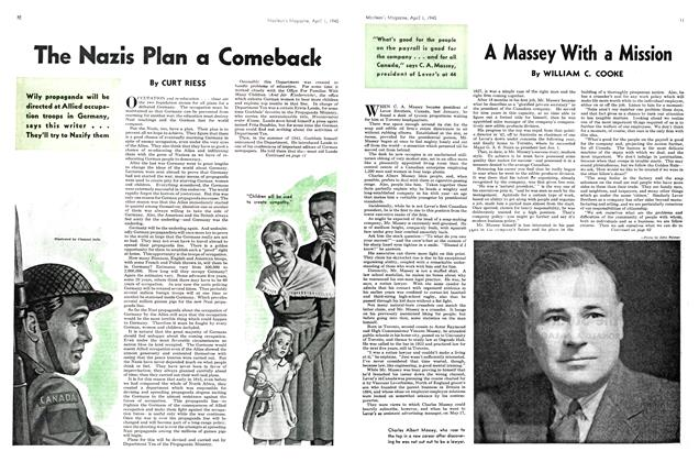 Article Preview: A Massey With a Mission, April 1945   Maclean's