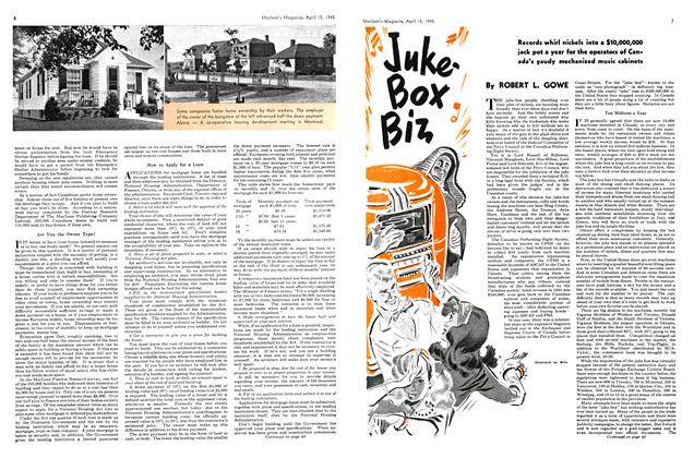 Article Preview: Juke-Box Biz, April 1945 | Maclean's