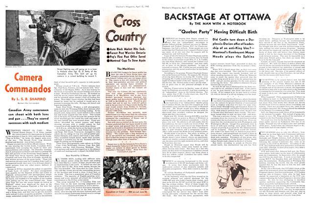 Article Preview: Camera Commandos, April 1945   Maclean's