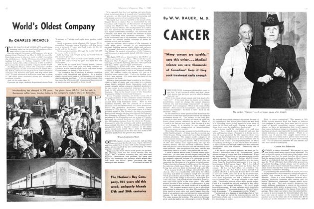 Article Preview: CANCER, May 1945 | Maclean's