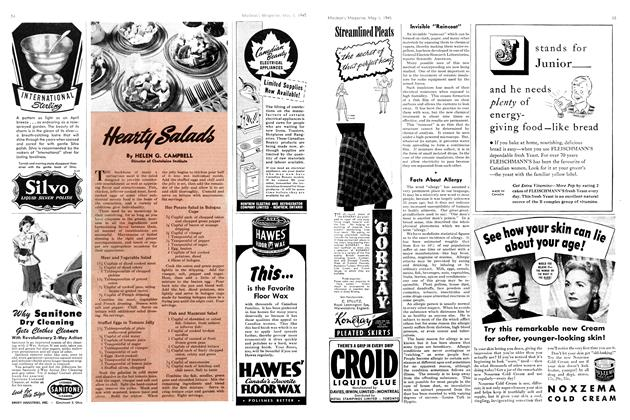 Article Preview: Hearty Salads, May 1945 | Maclean's