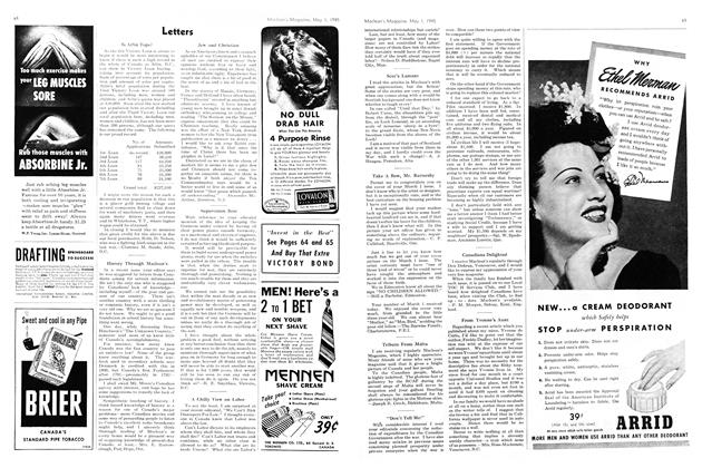 Article Preview: Letters, May 1945 | Maclean's