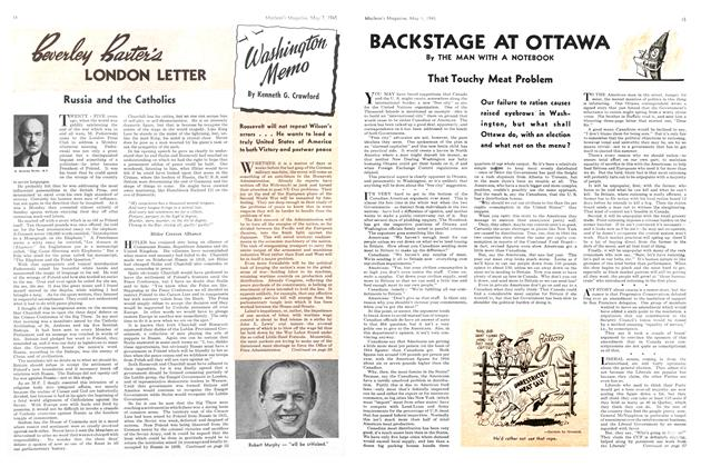 Article Preview: BACKSTAGE AT OTTAWA, May 1945 | Maclean's