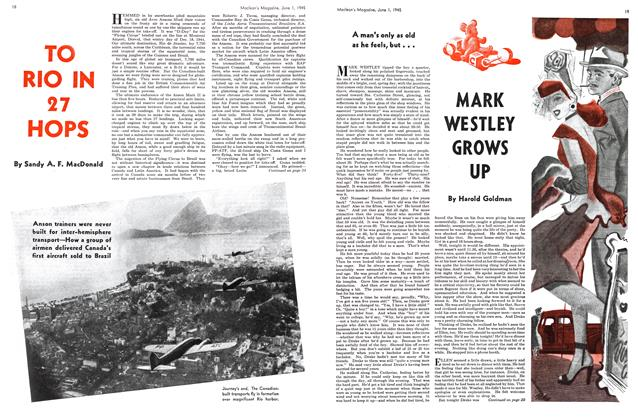 Article Preview: TO RIO IN 27 HOPS, June 1945 | Maclean's