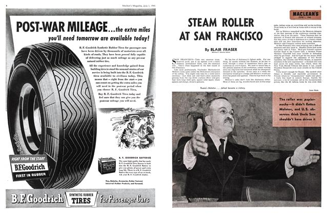 Article Preview: STEAM ROLLER AT SAN FRANCISCO, June 1945 | Maclean's