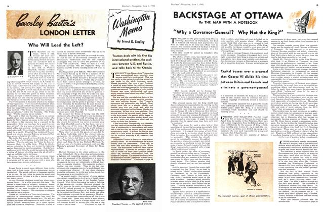Article Preview: BACKSTAGE AT OTTAWA, June 1945 | Maclean's