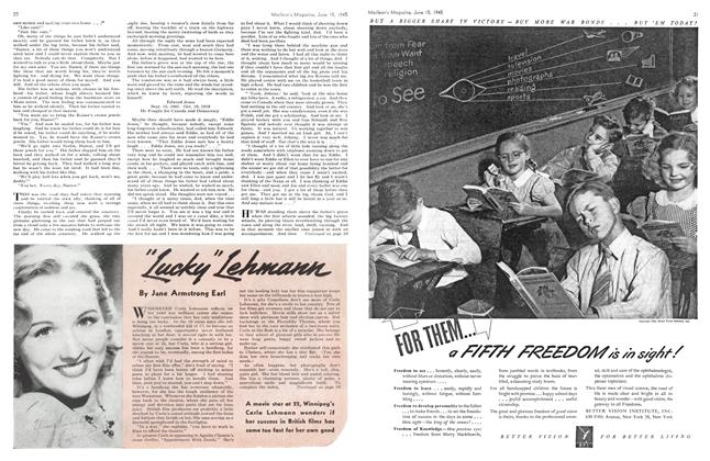 """Article Preview: """"Lucky"""" Lehmann, June 1945 