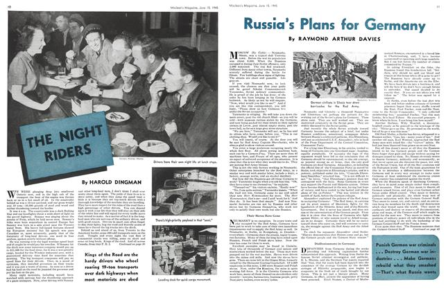 Article Preview: Russia's Plans for Germany, June 1945 | Maclean's