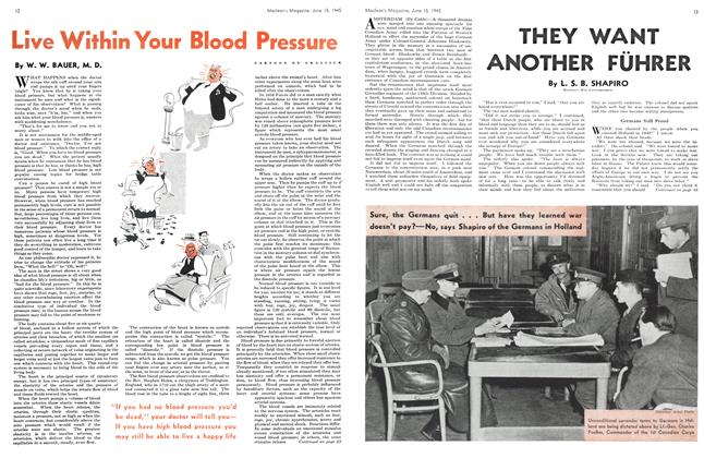 Article Preview: Live Within Your Blood Pressure, June 1945 | Maclean's