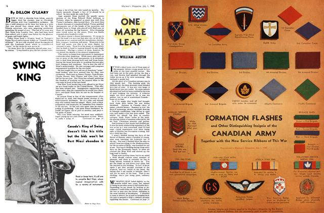 Article Preview: ONE MAPLE LEAF, July 1945 | Maclean's