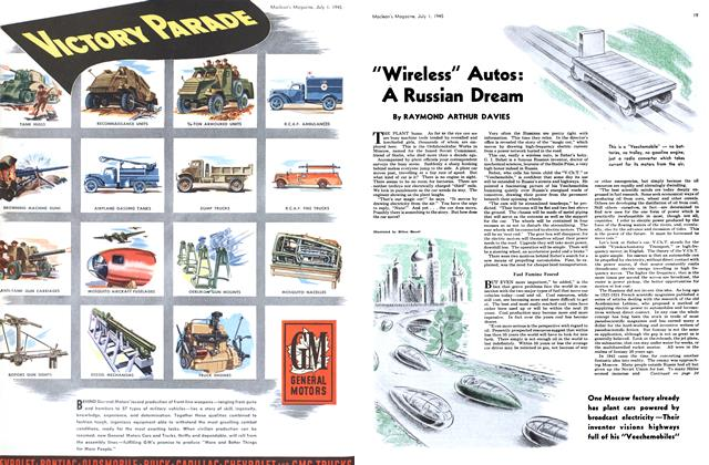 """Article Preview: """"Wireless"""" Autos: A Russian Dream, July 1945 
